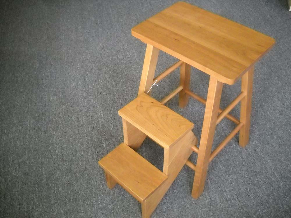 Shaker Furniture Of Maine Cherry Folding Stepstool