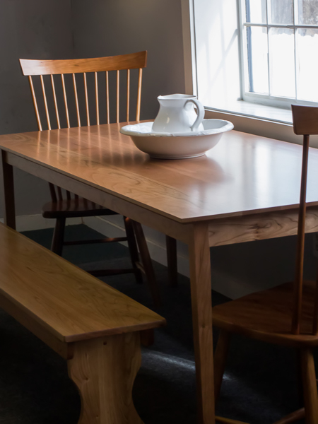 shaker furniture of maine cherry shaker style dining table