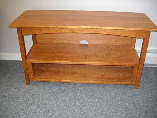 Shaker Furniture Of Maine Open Cherry Wide Screen Tv Stand