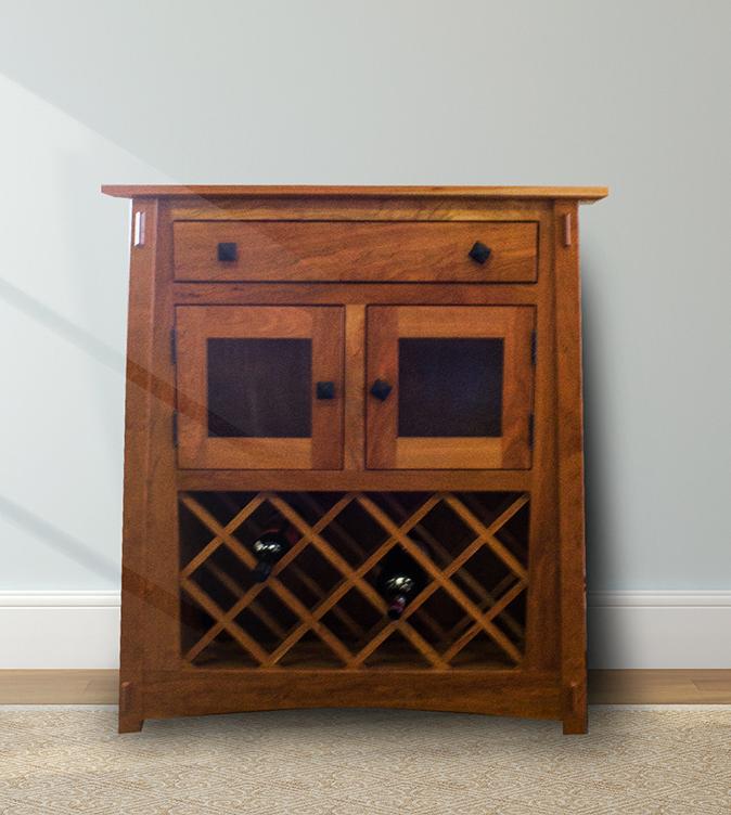 Shaker Furniture of Maine McCOY WINE STORAGE CABINET