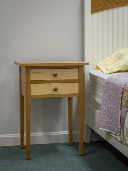 Shaker Furniture Of Maine Cherry Birdseye Maple Lamp Stand