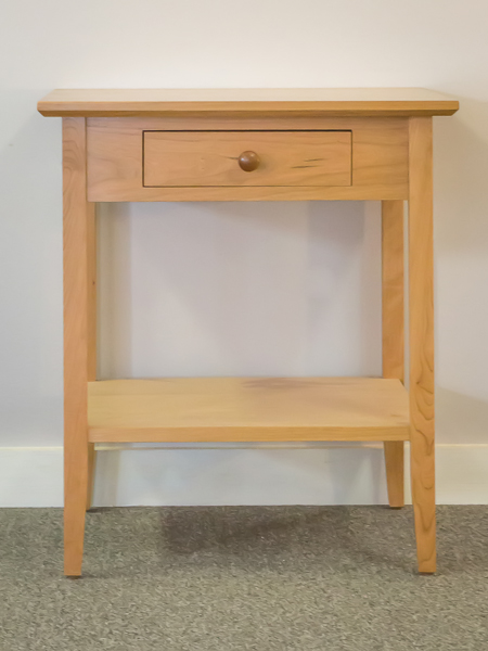 Shaker Furniture of Maine » CHERRY SHAKER END TABLE