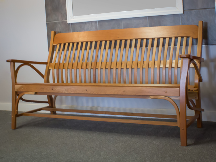 Shaker Furniture Of Maine 187 Mission Style 4 Foot Bench In