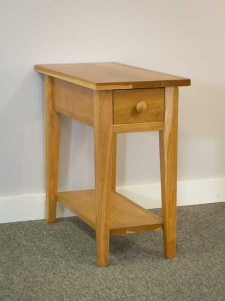 Shaker Furniture of Maine CHERRY CHAIRSIDE TABLE WITH DRAWER