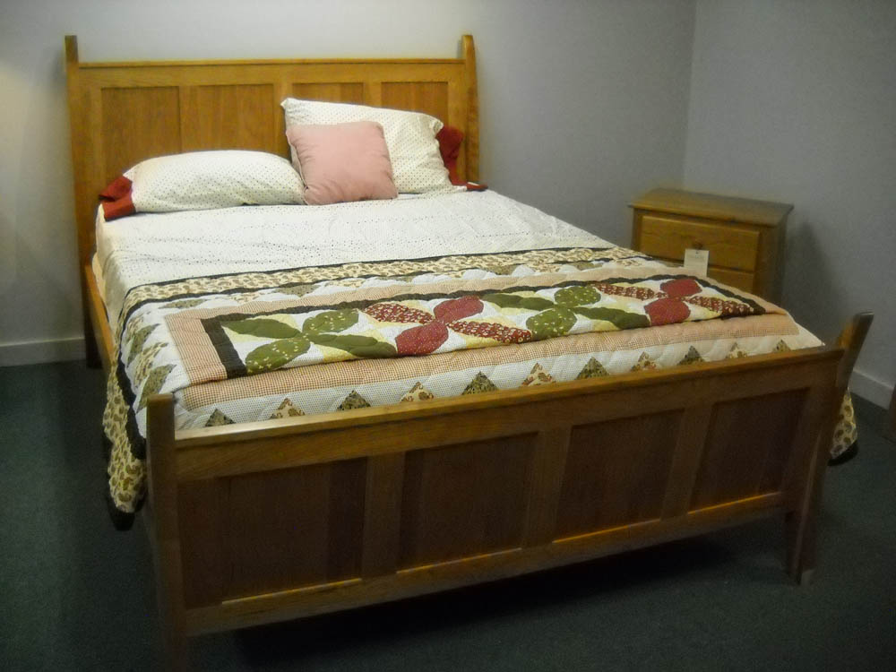 Shaker Furniture Of Maine Cherry Conestoga Sleigh Bed
