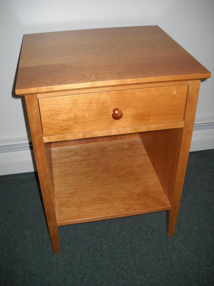 Shaker Furniture Of Maine Cherry One Drawer Nightstand
