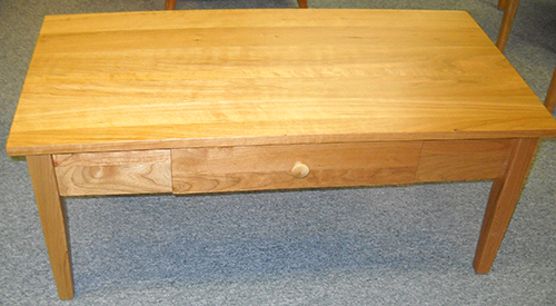 Shaker Furniture Of Maine Cherry Shaker Coffee Table With Drawer