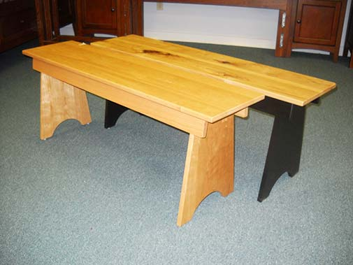 Shaker Furniture Of Maine Solid Cherry Benches