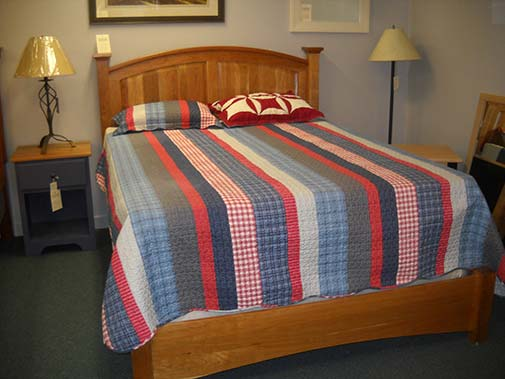 Shaker Furniture Of Maine 187 Cherry Bow Hill Panel Bed
