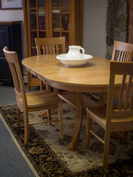 Shaker Furniture Of Maine Cherry Oval Carlisle Extension Table