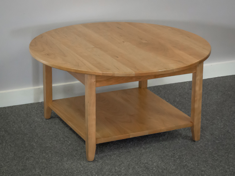 36u2033 ROUND COFFEE TABLE WITH SHELF