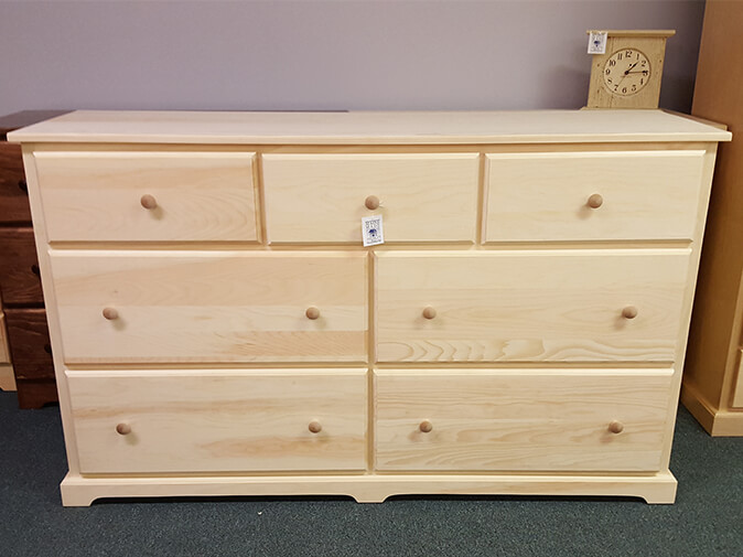 ME 051d Pine Deep Drawer Dresser
