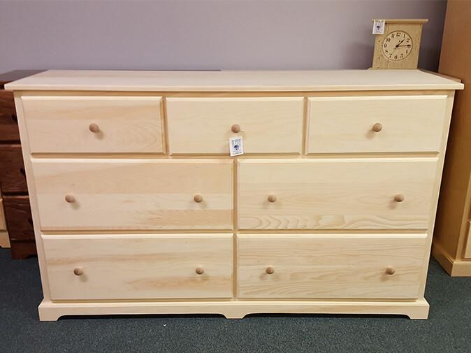 shaker furniture of maine pine deep drawer dresser. Black Bedroom Furniture Sets. Home Design Ideas