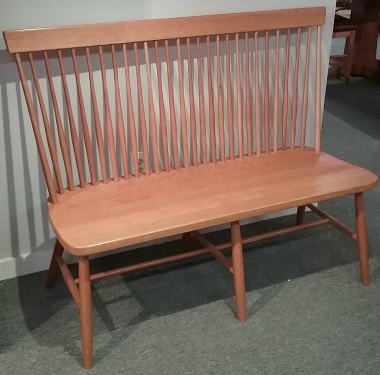 Shaker Furniture Of Maine Cherry Highback Bench
